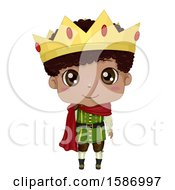 Clipart Of A Black Boy Prince Royalty Free Vector Illustration