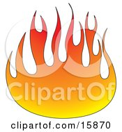 Ball Of Red And Orange Flames Clipart Illustration by Andy Nortnik #COLLC15870-0031