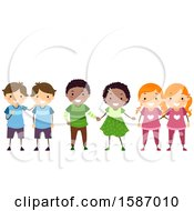Clipart Of Groups Of Identical And Fraternal Children Royalty Free Vector Illustration