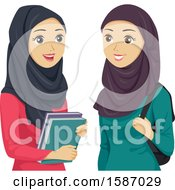 Teen Girls Wearing Hijabs