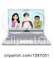 Group Of Teens During Video Chat