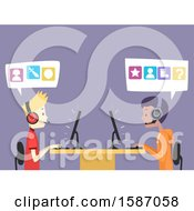 Clipart Of Teen Guys Playing Video Games Royalty Free Vector Illustration