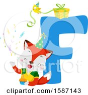 Birthday Animal Alphabet Letter F With A Fox