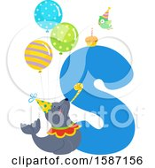 Birthday Animal Alphabet Letter S With A Seal