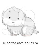 Cute White Arctic Lemming