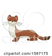 Clipart Of A Cute Stout Or An Ermine Royalty Free Vector Illustration by BNP Design Studio