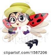 Poster, Art Print Of Ladybug Botanist Holding A Plant