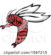 Clipart Of A Florida Woods Cockroach Mascot Royalty Free Vector Illustration