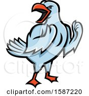 Clipart Of A Tough And Angry Yellow Legged Seagull Royalty Free Vector Illustration