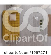 Clipart Of A 3d Living Room Interior Royalty Free Illustration