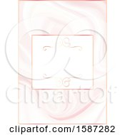 Clipart Of A Pink Marbled Save The Date Wedding Invite Design Royalty Free Vector Illustration