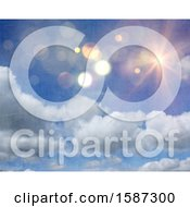 Clipart Of A Distressed Textured Sunny Sky Background Royalty Free Illustration
