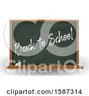 Clipart Of A Back To School Chalkboard Royalty Free Vector Illustration