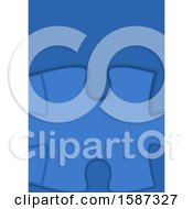 Clipart Of A Blue Jigsaw Puzzle Background Royalty Free Vector Illustration