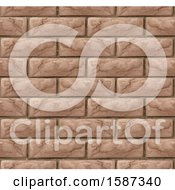 Clipart Of A Seamless Brick Wall Texture Background Royalty Free Vector Illustration