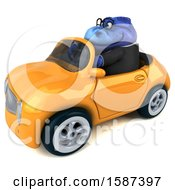 Clipart Of A 3d Blue Business T Rex Dinosaur Driving A Convertible On A White Background Royalty Free Illustration