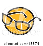 Pair Of Shades Over Orange Clipart Illustration by Andy Nortnik