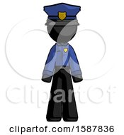 Black Police Man Standing Facing Forward