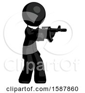 Black Clergy Man Shooting Automatic Assault Weapon
