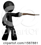 Black Clergy Man Pointing With Hiking Stick