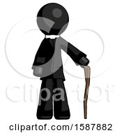 Black Clergy Man Standing With Hiking Stick