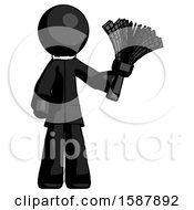 Black Clergy Man Holding Feather Duster Facing Forward