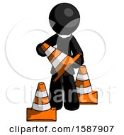 Black Clergy Man Holding A Traffic Cone