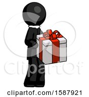 Black Clergy Man Giving A Present