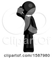 Black Clergy Man Soldier Salute Pose