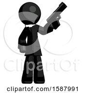 Black Clergy Man Holding Handgun
