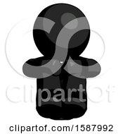 Black Clergy Man Sitting With Head Down Facing Forward