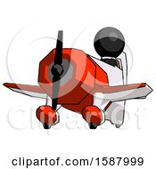 Black Clergy Man Flying In Geebee Stunt Plane Viewed From Below