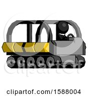 Black Clergy Man Driving Amphibious Tracked Vehicle Side Angle View