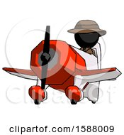 Black Detective Man Flying In Geebee Stunt Plane Viewed From Below