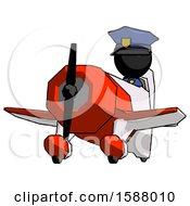 Black Police Man Flying In Geebee Stunt Plane Viewed From Below