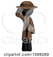 Black Detective Man Soldier Salute Pose