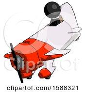 Black Clergy Man In Geebee Stunt Plane Descending View