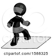 Black Clergy Man On Postage Envelope Surfing