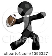 Black Clergy Man Throwing Football