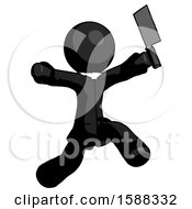 Black Clergy Man Psycho Running With Meat Cleaver