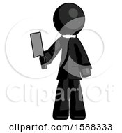 Black Clergy Man Holding Meat Cleaver