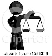 Black Clergy Man Holding Scales Of Justice