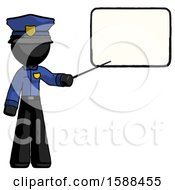 Black Police Man Giving Presentation In Front Of Dry Erase Board