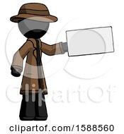 Black Detective Man Holding Large Envelope