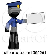 Black Police Man Holding Large Envelope