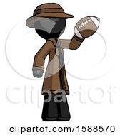Black Detective Man Holding Football Up