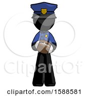 Black Police Man Giving Football To You