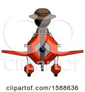 Black Detective Man In Geebee Stunt Plane Front View