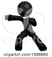 Black Clergy Man Martial Arts Punch Left