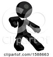 Black Clergy Man Karate Defense Pose Right